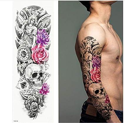 yyyDL Tatuaje temporal de brazo completo, pegatinas de tatuaje ...