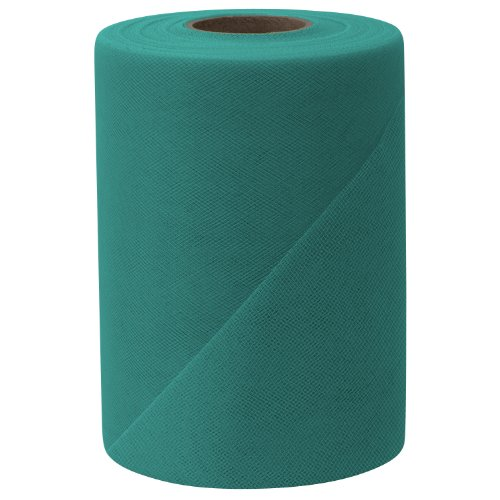 Falk Fabrics Tulle Spool, 6-Inch by 100-Yard, Teal