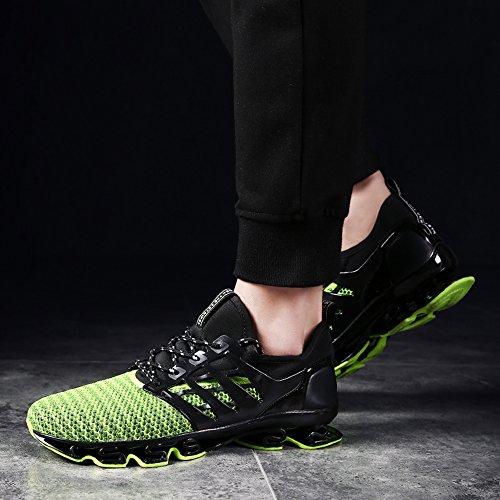 Mode Super Atmungsaktive Sneaker Schuhe Freizeitschuhe Licht up Grün 580 Billige Für Lace Männliche Licht XIANV Männer Neue q7SFwqxI