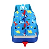 Uworth Dinosaur Kids Backpack Boys for Toddler Kindergarten Blue