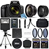 Nikon COOLPIX P900 Digital Camera with 83x Optical Zoom and Built-In Wi-Fi (Black) + 64GB Starter Bundle. Includes 2X Memory Cards + 3Piece Filter Kit + Tripod + Case + Free DigitalAndMore Accessories