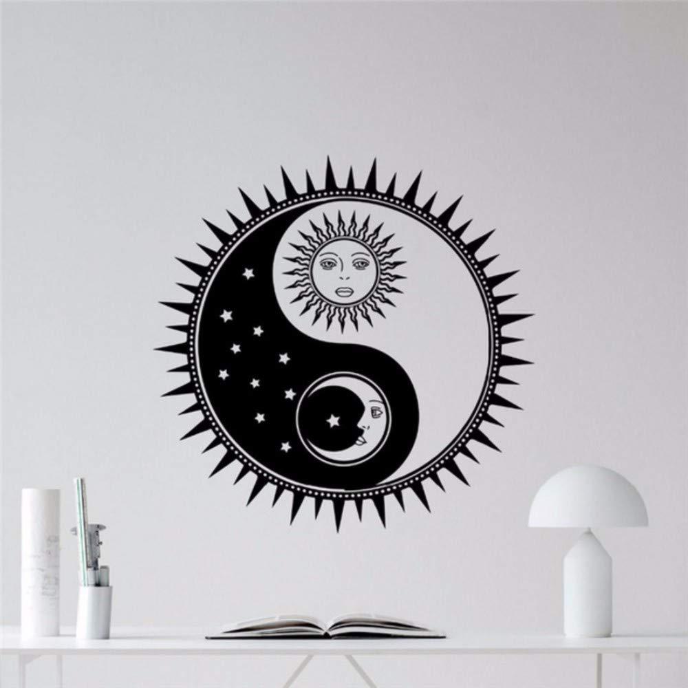 Yologg 56X56 Cm Sol Y Luna Yin Yang Tatuajes De Pared Estrellas ...