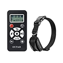 OUTAD Dog Trainer Remote Dog Training Collar Rechargeable Anti Bark Shock Collar With 0-7 Adjustable Shock Level Safely and Humanely