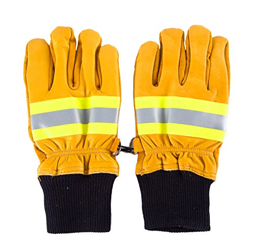 Joyutoy Yellow Leather Work Gloves With Insulated Split C...