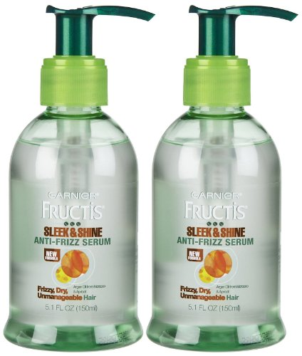Garnier Fructis Sleek & Shine Anti, Frizz Serum, 5.1 oz, 2 pk