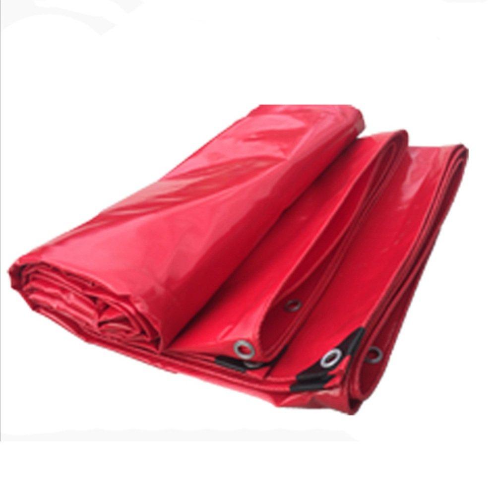 BU Plane Plane-Markise, LKW-Campingzelt-Regenplanen-Picknick-Tuch 530g   M2, Rotes Doppelseitiges Wasserdichtes, Perforiert (größe   4X 4m)