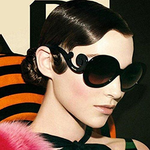 Vintage Soleil Bright Noir Big Goggles de Style pour Femmes Shining Frame UV400 Lunettes YqqCtOw