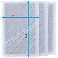 StratosAire Air Cleaner Replacement Filter Pads 20x30 Refills (3 Pack) WHITE
