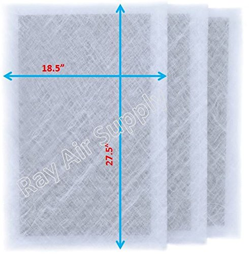 RAYAIR SUPPLY 20x30 Dynamic Air Cleaner Replacement Filter Pads 20X30 Refills (3 Pack) White
