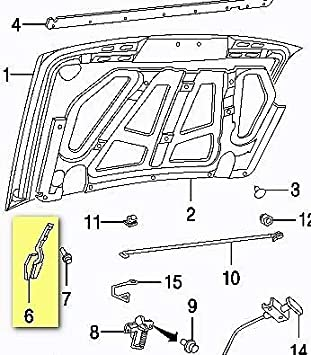 New TO1236101 Driver Side Hood Hinge for Toyota Camry 1992-1996