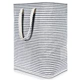 Lifewit 23.6' Freestanding Laundry Hamper Clothes Hamper Large Basket with Extended Handles for Storage Clothes Toys in Bedroom, Bathroom, Foldable, Grey