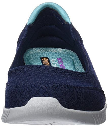 Skechers Damen Wave-Lite-Dont Mention It Sneaker Blau (Navy/aqua)