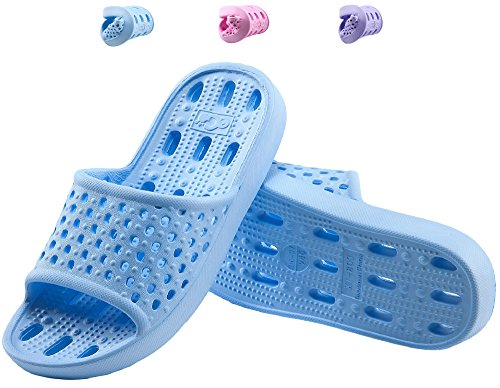 » Shower Slippers for Women Bathroom Sandals Soft Indoor ...