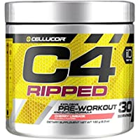 Cellucor C4 Ripped Pre Workout Powder Fat Burner Cherry Limeade, 180g, 30 Servings