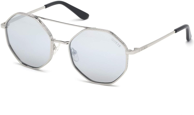 Sunglasses Guess GU 7636 10C shiny light nickeltin//smoke mirror