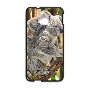 HTC One M7 phone cases Black Koala fashion cell phone cases TRUG1027702