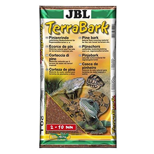 JBL 71024 Bodensubstrat, für Wald und Regenwaldterrarien, Pinienrinde, 2 - 10 mm, TerraBark, 20 l