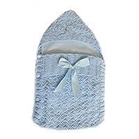 Saquito para cubrir al recién nacido color celeste - PEONI MILOU/bebé/niño/niña/regalo para baby shower/salida de hospital/regalo para nacimiento/sesión de fotos