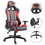 Officelax Racing Chair Gaming Chair High Back Reclining Swivel Executive Office Chair (red) Officelax