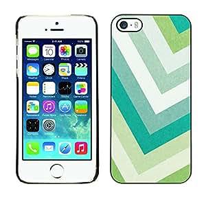[Neutron-Star] Snap-on Series Teléfono Carcasa Funda Case Caso para iPhone 5 / 5S [Colores en colores pastel del verde del trullo blanco]