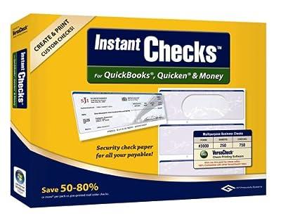 VersaCheck Instant Checks Form # 3000 Standard Business Check, Blue Prestige,250 Sheets/750 Checks