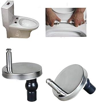 2x Befestigungs Set Ersatz Scharniere WC-Sitz Deckel Edelstahl Toilettensitz