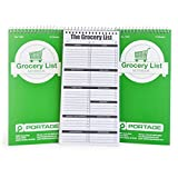 """Portage Grocery List Notebook - 4"""" x 8"""" Grocery Shopping Notepad - Stay Organized and Never Forget an Item Again - 140 Pages (3 Pack)"""