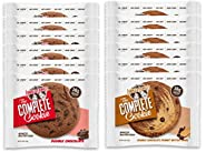 Lenny & Larry's The Complete Cookie LdnRb - 6 Double Chocolate Chip and 6 Double Chocolate Peanut Butter Swirl (Pack of 12)