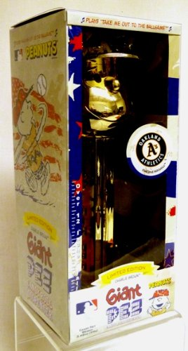 (Gold Plated Charlie Brown Oakland Athletics - Limited Edition Giant Pez Dispenser)