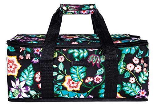 Vera Bradley Insulated Casserole Carrier with Zip Closure and Handles, Fits Up To Two 13x9 Baking Dishes (Vines Floral)