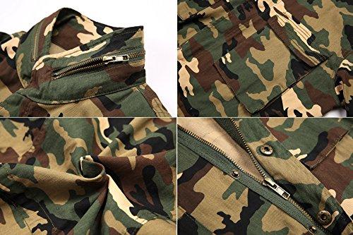 Donne Camouflage Escalier Giacca Militare Camo Invernale Camuffare znqdvw6