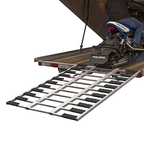 Rage Powersports Aluminum Snowmobile Trailer Loading Ramp with Grip Glides 77