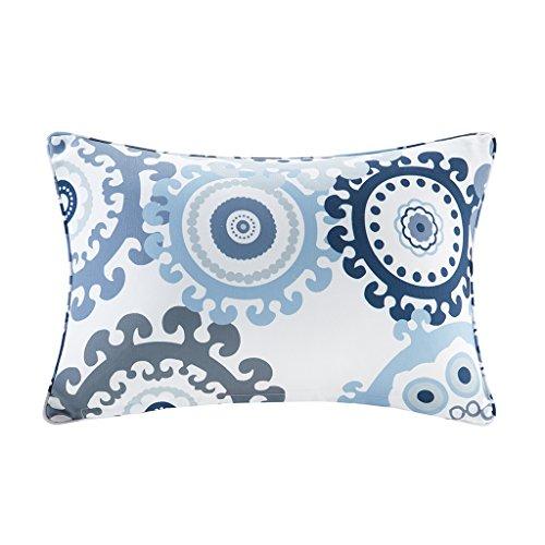 Laguna Outdoor Pillow (Laguna Printed Medallion 3M Scotchgard Outdoor Oblong Pillow Indigo/Blue)