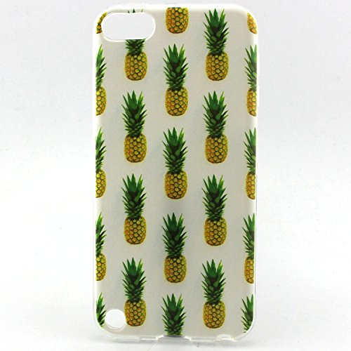 iPod Touch 5 Gen Case, iPod Touch 6 Case, Easytop Premium Exact Fit Fashion Style Flexible Ultra Slim Soft TPU Rubber Back Cover Protective Skin Case (Pineapple) (Ipod Touch Best Price)