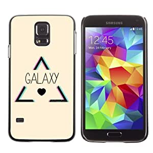 Designer Depo Hard Protection Case for Samsung Galaxy S5 / Hipster Triangle Galaxy