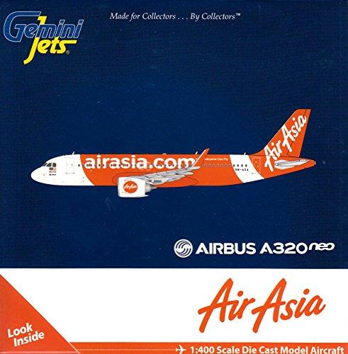 Gemini Jets Airasia A320neo 9M Aga 1 400 Scale Model Airplane Die Cast Aircraft