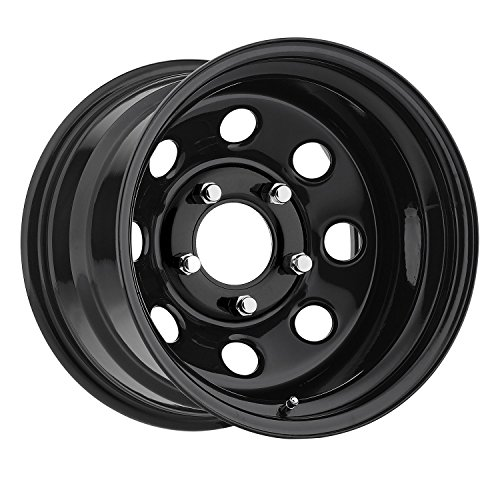 (Trailmaster TM9-5865 TM9 Steel Wheel; Size 15X8 ;Bolt Pattern: 5x4.5 ;Back Space 3.75 in.; Finish Gloss Black;)
