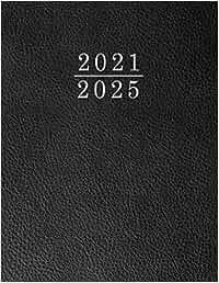 Terminkalender 2021 2025 Schwarz Tisch-Kalender: Agenda Planing. 1 Monate auf 2 Seiten mit Tagesnotizen. Monatsplaner 60 Monate: Januar 2021 bis Dezember 2025. Mit Adressenverzeichnis