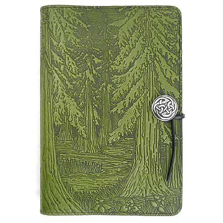 (Evergreen Forest American-Made Embossed Leather Writing Journal Cover, 6 x 9-inch + Refillable Hardbound Insert Book)