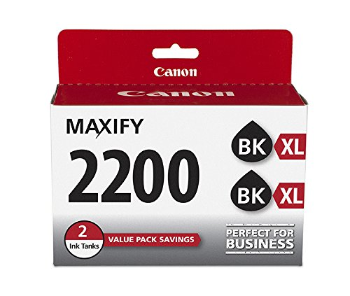 Canon PGI-2200XL Black Twin Ink Pack, Compatible to MB5420,MB5320, MG5120,MB5020,iB4120 and iB4020 Compatible Multi Pack Ink
