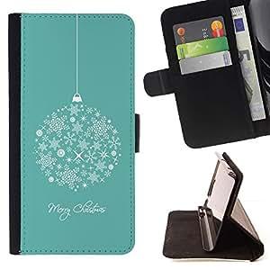 Momo Phone Case / Flip Funda de Cuero Case Cover - Feliz Navidad Vacaciones de Invierno - Samsung Galaxy J1 J100