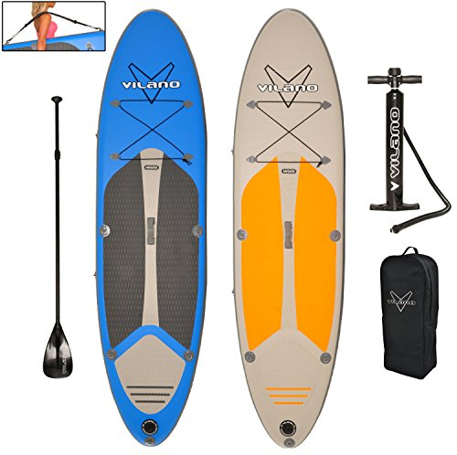 Vilano-Navigator-10-6-Thick-Inflatable-SUP-Stand-Up-Paddle-Board-Package