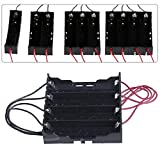 New DIY 18650 Battery Box Black Plastic Batterries Holder Storage Case for 1x18650 Rechargeable Battery with Wire Lead