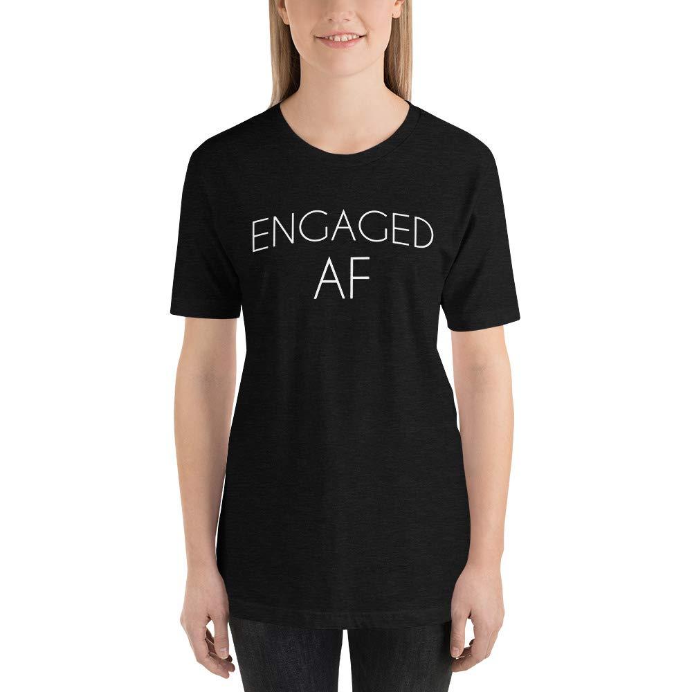 Alpha5StarDeals Engaged AF Wedding Announcement Short-Sleeve Unisex T-Shirt
