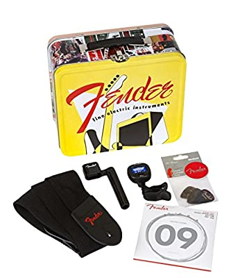"Fender 0992017001 Essential Electric Guitar Accessories Kit - ""Lunchbox"" Bundle from Fender Musical Instruments Corp."