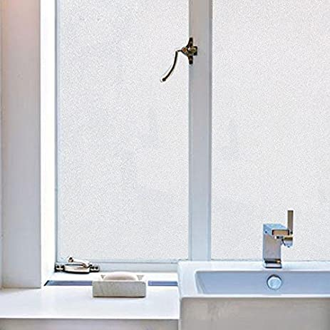 Bloss Glass Frosted Paper Self Adhesive Window Film Shower Waterproof Window  Covering(17.7u0026quot;