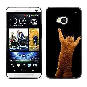 EJOY---Cubierta de la caja de protección la piel dura para el / HTC One M7 / --Salta Gato