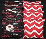 Arizona Cardinals Red Chevron Cornhole Bean Bags 8 ACA Regulation Corn Hole Bags