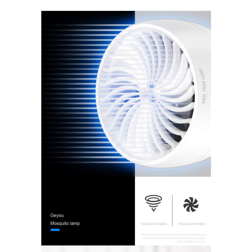 Fotocatalítico Ultravioleta Mosquito UV Luz Mosquito asesino Insecto asesino 360 grados con ventilador, respetuoso del medio ambiente para uso en interiores ...