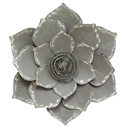 Stratton Home Decor Lotus Wall Decor, Grey - Lotus flower wall art